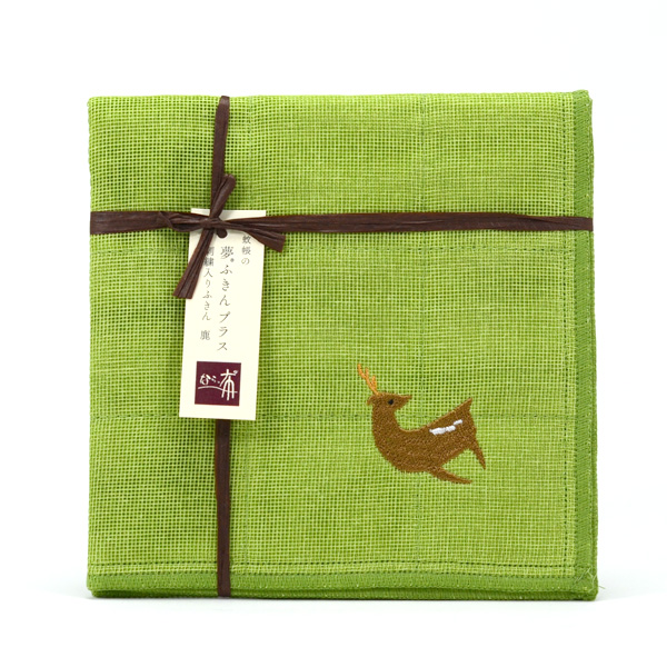 鹿刺繡布巾 1