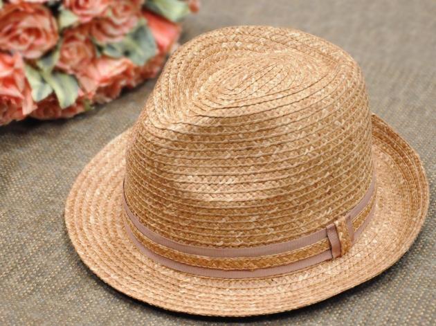 流行雙色草編紳士帽 1