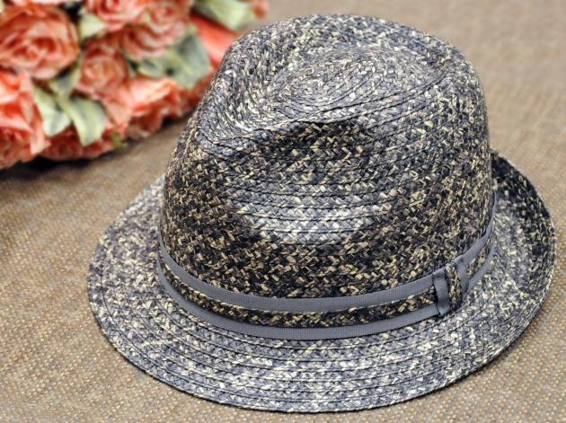 流行雙色草編紳士帽 2