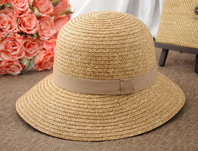 日系雙色草編漁夫帽 1