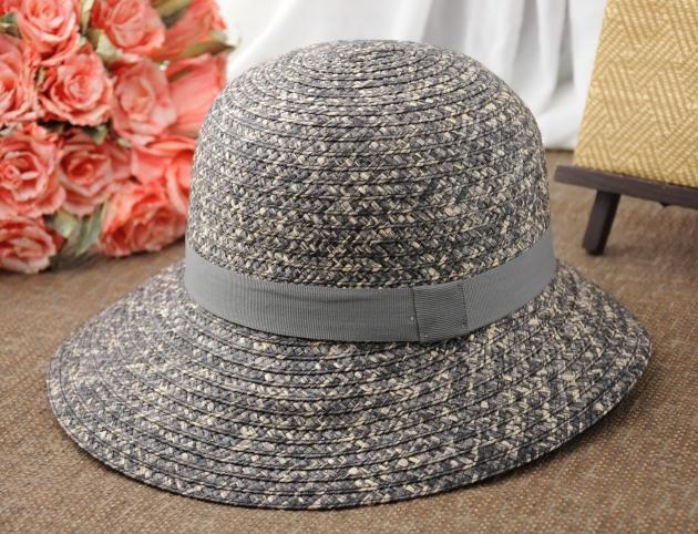 日系雙色草編漁夫帽 2